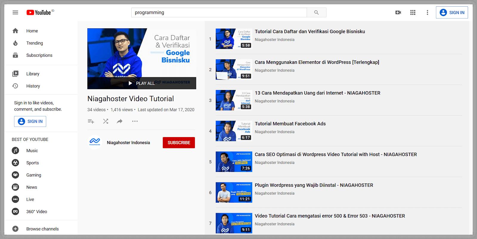 Membangun channel YouTube bisa menghasilkan pendapatan.