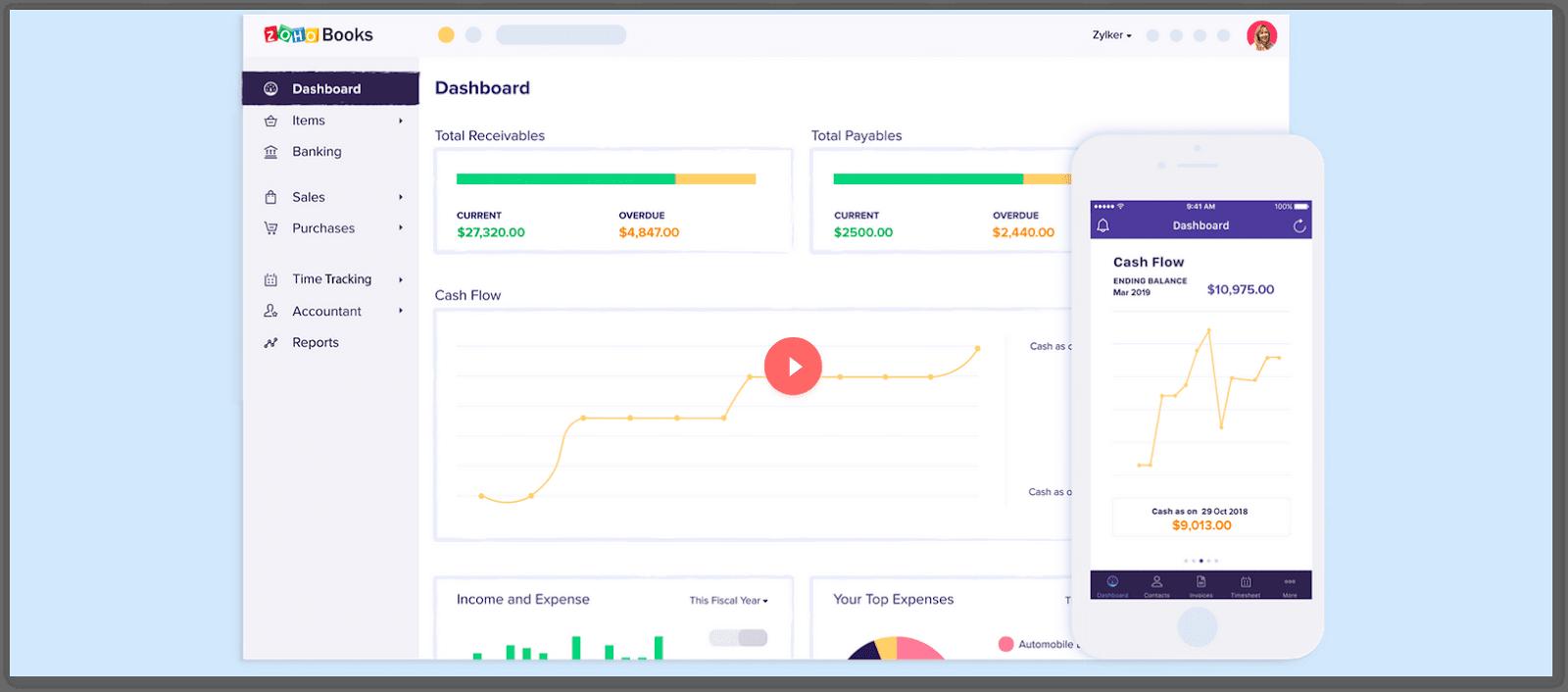 ZohoBooks bisa menjadi aplikasi yang membantu Anda di awal membangun usaha bisnis.