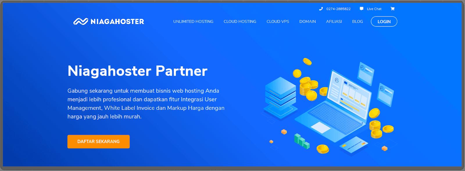 Menjadi reseller hosting untuk mendukung bisnis jasa pembuatan website