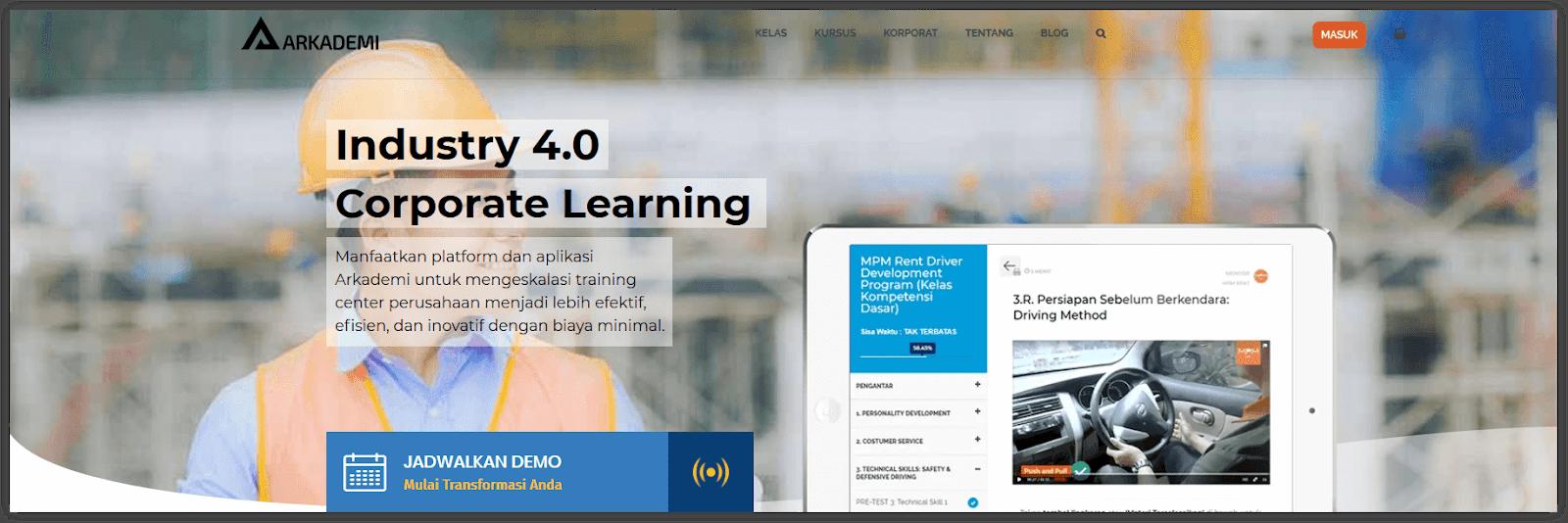 contoh website kursus sebagai bisnis online tanpa modal