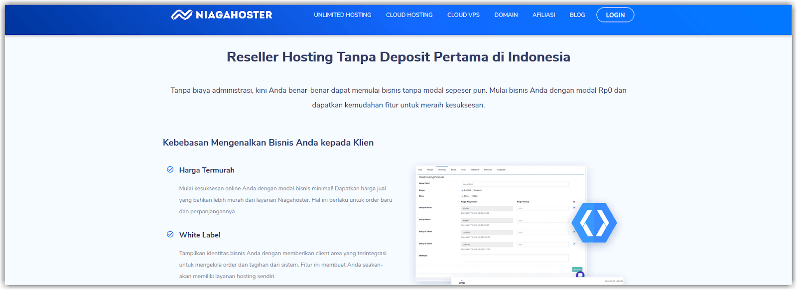 platform reseller hosting niagahoster partner