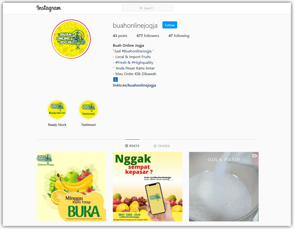 berjualan online dengan Instagram