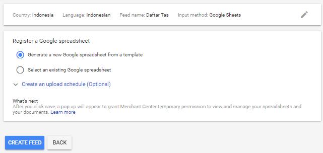 Google Sheet Google Merchant Center
