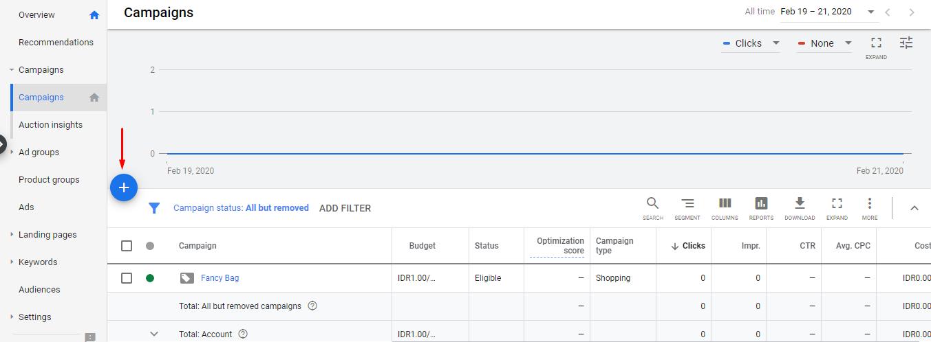 Create New Campaign Google Ads