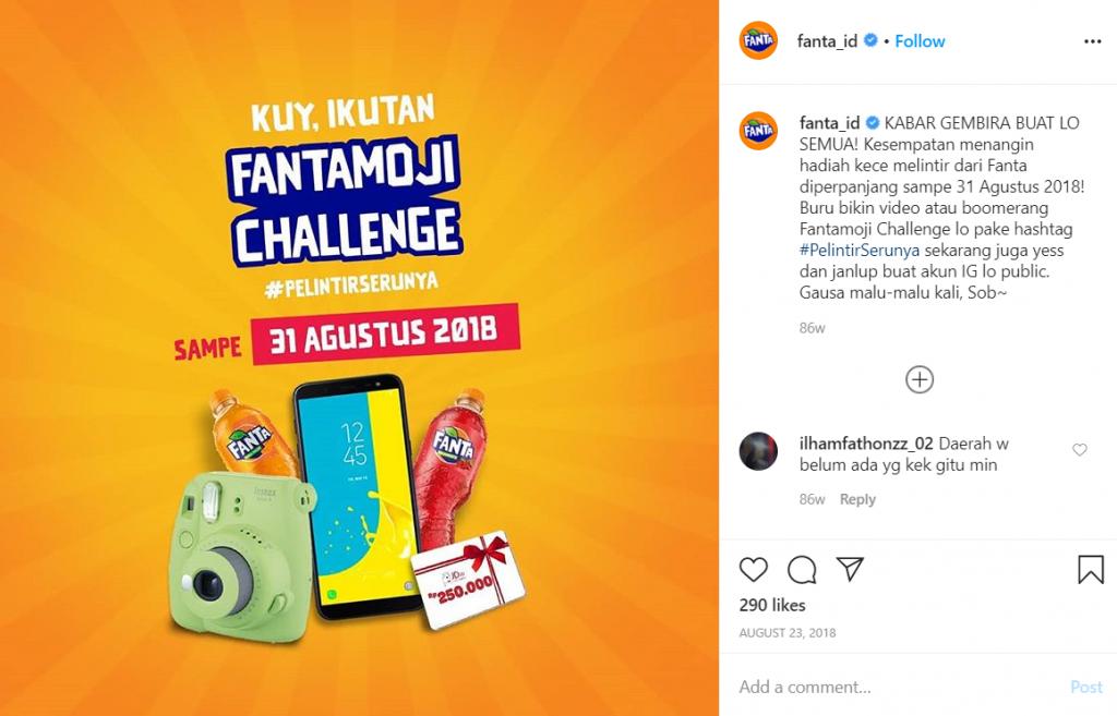 contoh ugc fanta sebagai marketing trends 2020