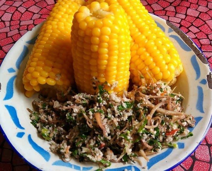 gambar makanan khas gorontalo Sayur Putungo