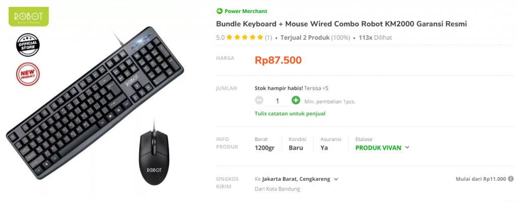 contoh product bundling di toko online
