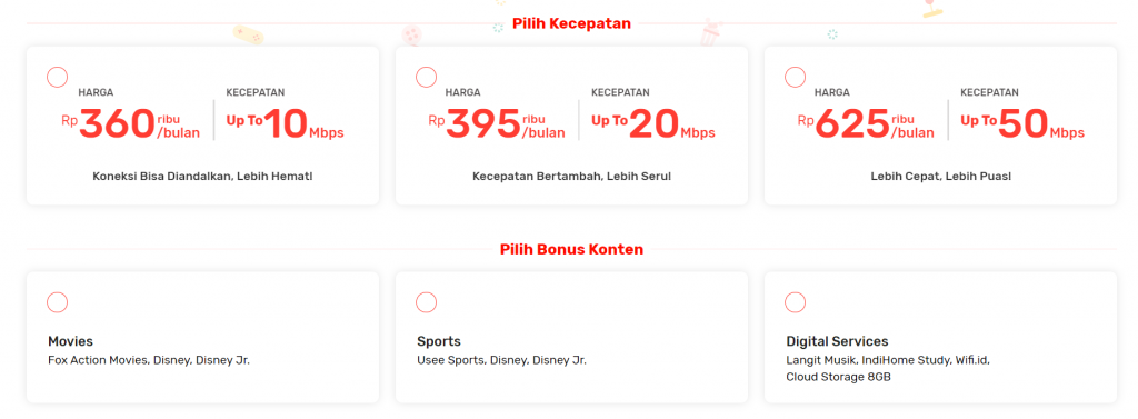 contoh upselling indihome