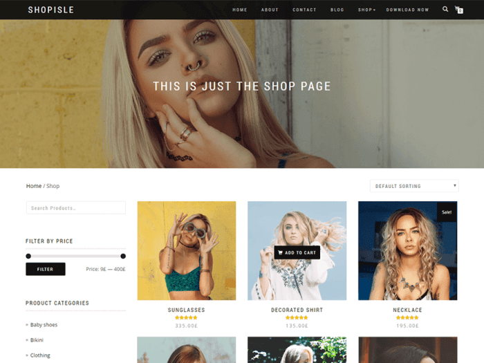 Template toko online Shop Isle