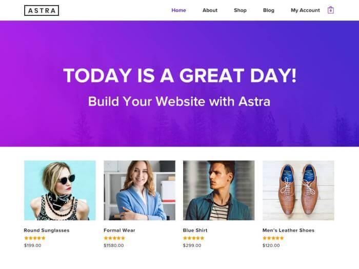 Template toko online terbaik Astra