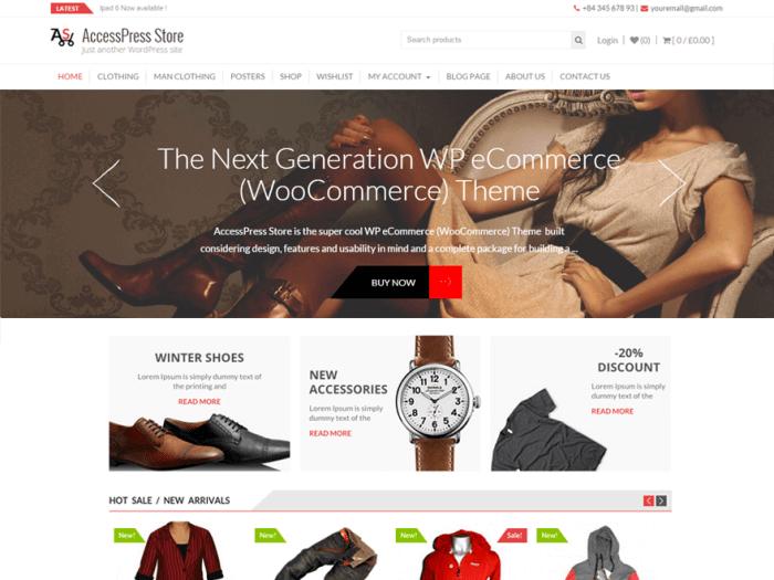 Template toko online AccessPress Store