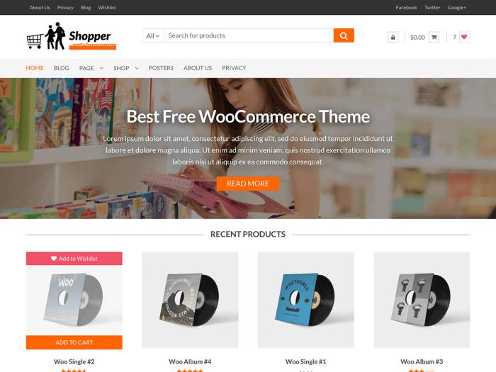 Template toko online sederhana Shopper