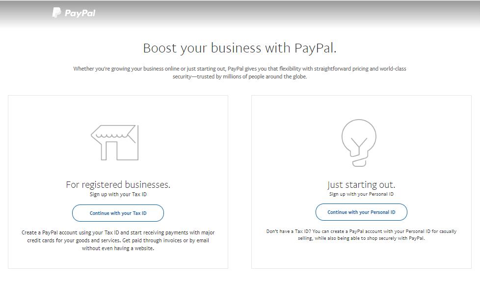 Menentukan identitas saat setting PayPal WooCommerce