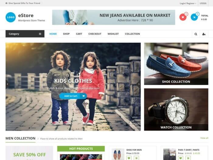 Template toko online eStore