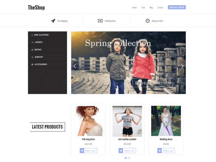 Template toko online TheShop