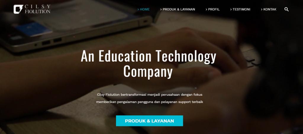 halaman utama sekolah digital cilsy