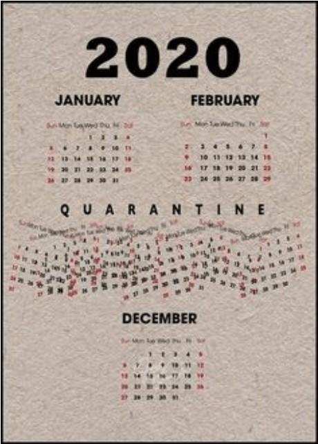 ilustrasi kalender bisnis 2020 karena pandemi covid 19