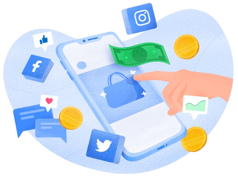 ilustrasi social media marketing