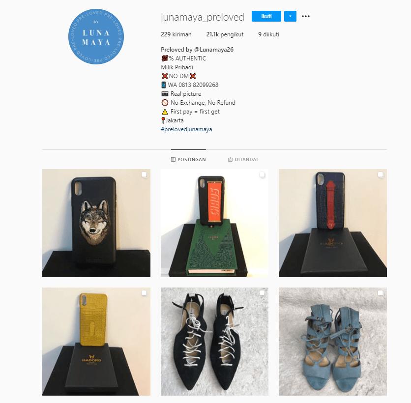 Cara Mendapatkan Uang dari Instagram Preloved