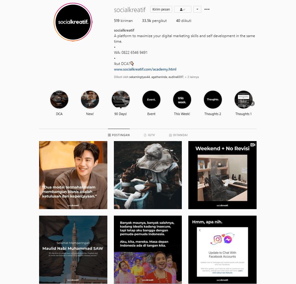 Melayani Jasa Admin Instagram