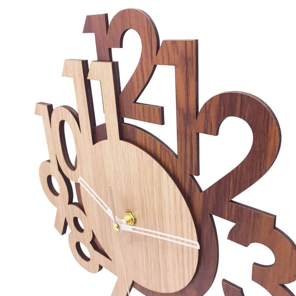 gambar Jam Dinding Tiktokbox Layer Wood