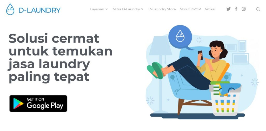 contoh bisnis laundry go online
