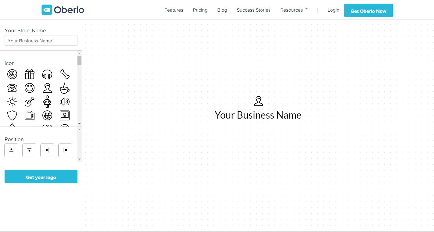 desain logo online gratis oberlo