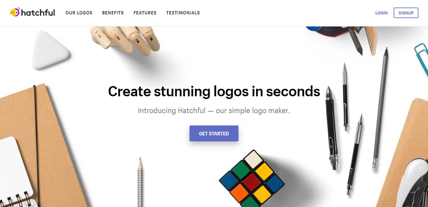 desain logo online gratis hatchful