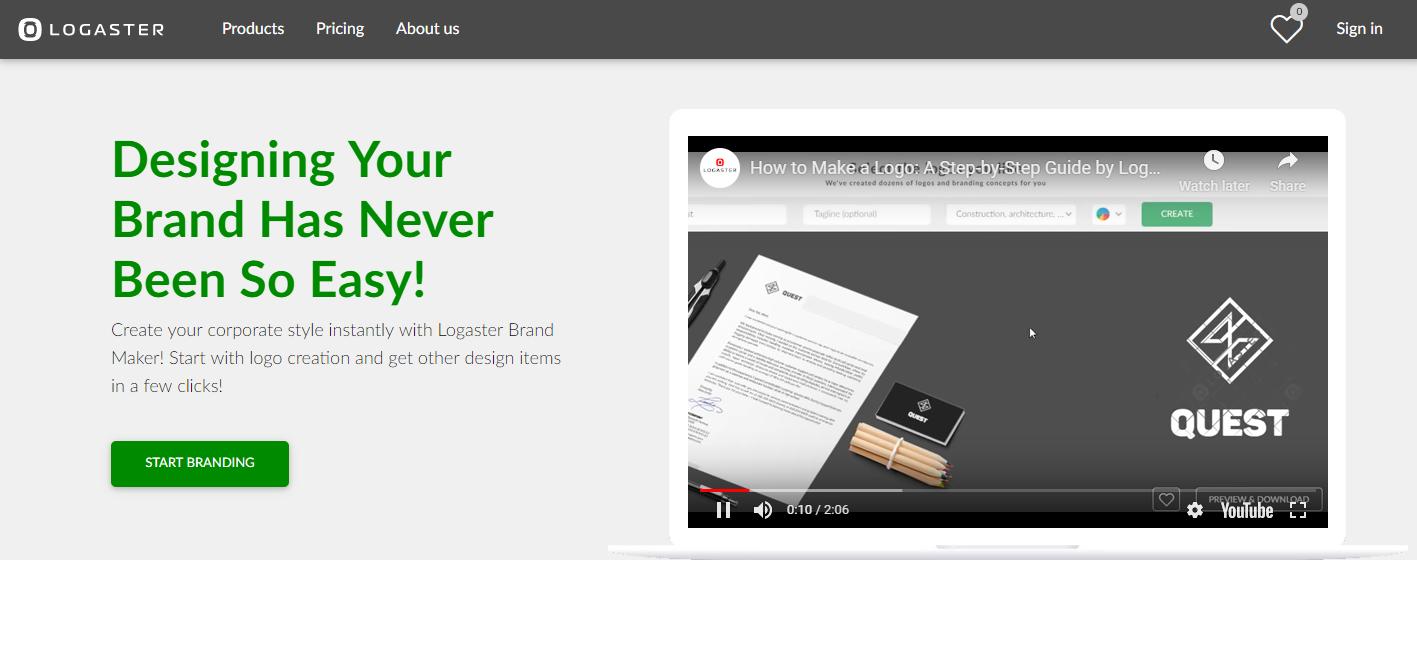 desain logo online gratis logaster
