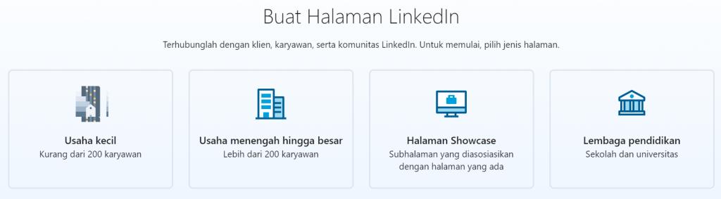 jenis organisasi yang ada di LinkedIn