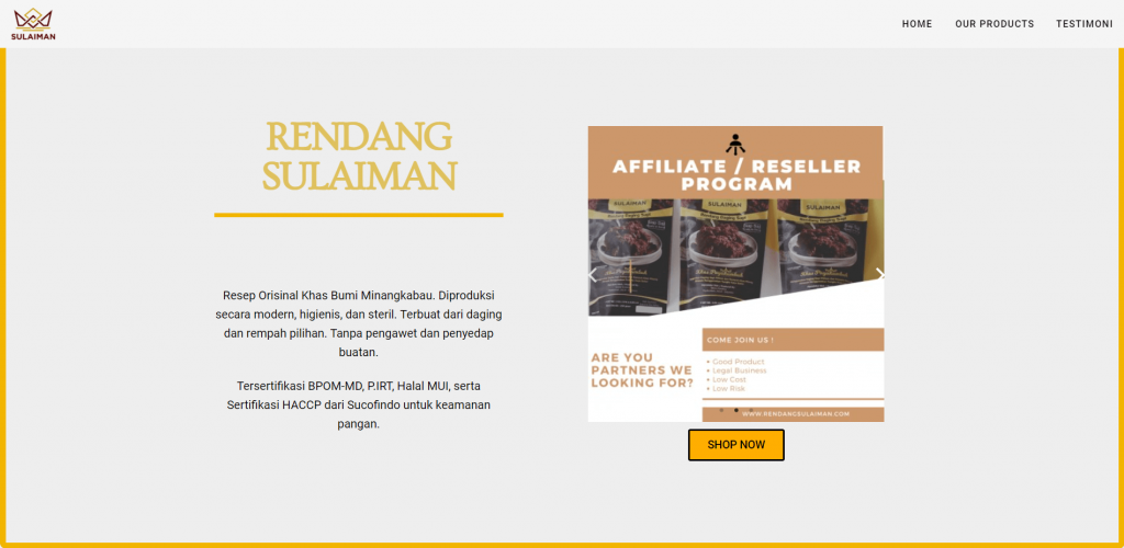 Website Rendang Sulaiman