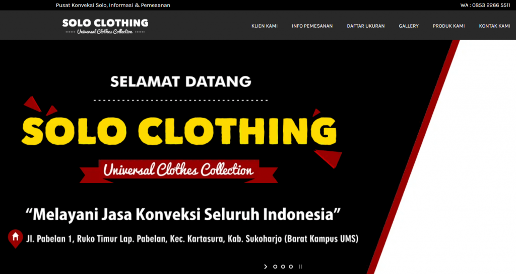 Website Solo Clothing