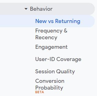 returning visitor google analytics