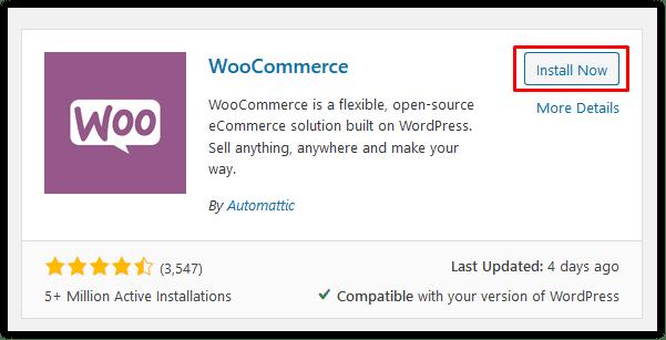 Menginstal plugin WooCommerce.