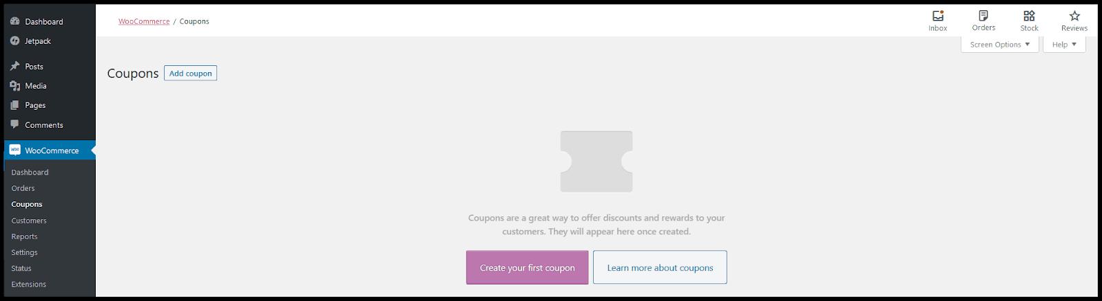 Tutorial WooCommerce untuk menambahkan kupon.