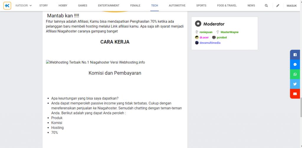 contoh bisnis afiliasi forum online