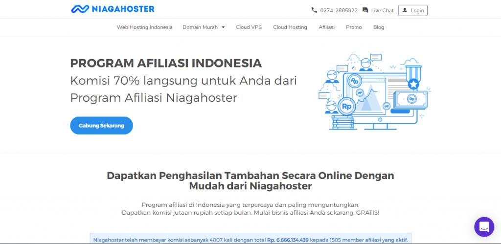 program afiliasi Niagahoster