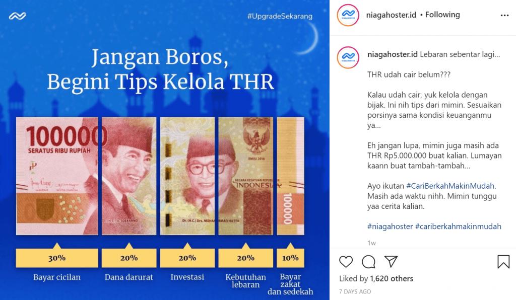 contoh postingan instagram niagahoster