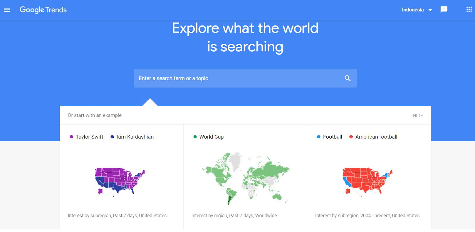 Riset produk menggunakan tools Google Trend