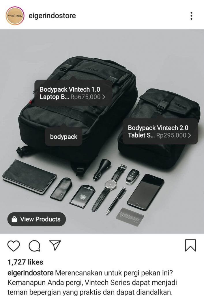 contoh product tagging eiger