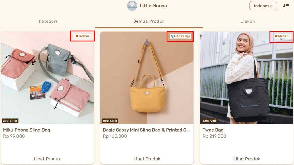 kategori dan tag produk untuk membangun navigasi katalog produk yang baik