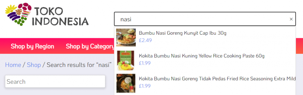 woocommerce product search toko indonesia