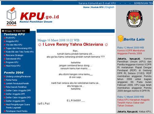 Analisa kasus hack Situs KPU