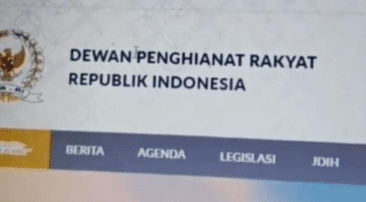 Cara hack website DPR RI