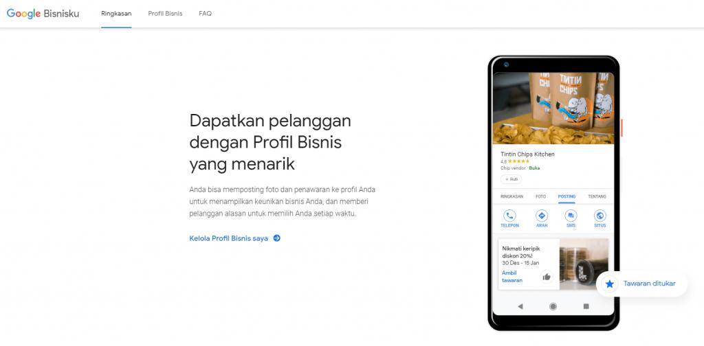 Gunakan Google Bisnisku untuk menampilkan profil toko