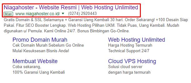 SEM menempatkan web ke rank teratas secara instan