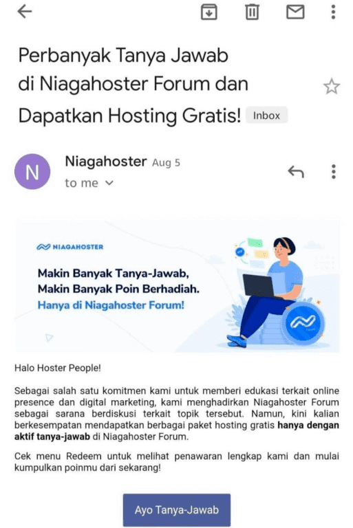 Email Marketing Niagahoster