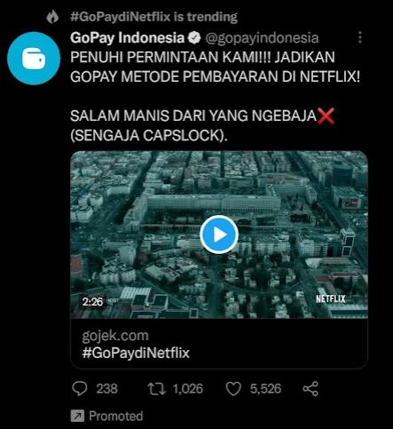 contoh native advertising Gojek