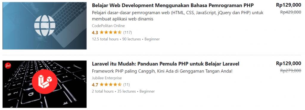 contoh kursus online udemy