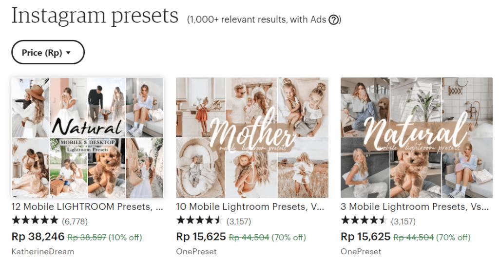 contoh penjualan produk digital preset